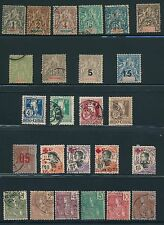 1892 - 1919 Indo China (25) ISSUES: MOSTLY USED; CV $56