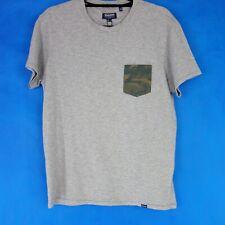 Woolrich Herren T Shirt Oberteil Grau Pocket Tee Camouflage Baumwolle Np 65 Neu