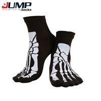 Punk Rock Men's Toe Socks Skull Design Hip Hop Cotton Sock Five Fingers