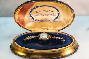 Waltham Pioneer 678 Women's Watch 17Jewels 4 Adjustments 10K GF, Orig Watch Box