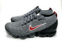 Nike Air Vapormax Flyknit 3 Mens Running Shoes Particle Grey Red Size 8.5