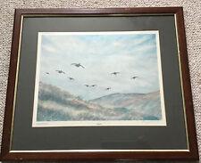 Artist Richard Harrison Framed Signed Limited Edition Print Grouse 181/500
