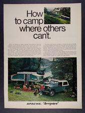 1968 Jeep Jeepster Commando & Apache Mesa Camper vintage print Ad