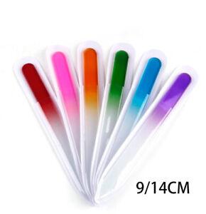 5PCS Glass Nail File tough Manicure Crystal Buffer Care Tools Polish Pedicure