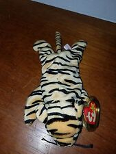 Ty Beanie Baby Stripes the Tiger PVC PELLETS RARE & RETIRED w/ FACTORY Errors!