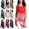 Women Summer Vest Sleeveless Shirt Blouse Casual Tunic Tank Tops T-Shirt S-5XL