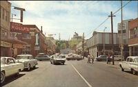 Port Angeles WA Street Scene Cars Postcard