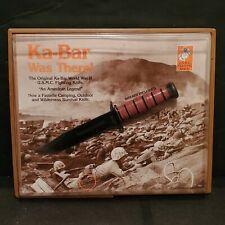 Rare Vintage 1981 USMC Store Advertising Knife Display Ka-Bar Was There