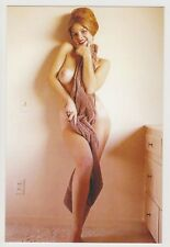 Postcard Pinup Risque Nude Stunning Girl Extremely Rare Photo Post Card 9450