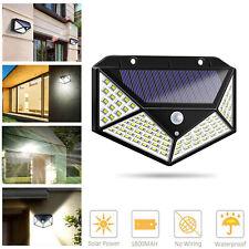 Waterproof Solar Power 100 LED Wall Light Motion Sensor Outdoor Garden Lamp RK95