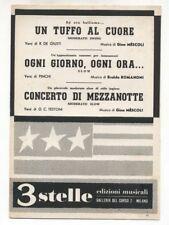 Spartito UN TUFFO AL CUORE Gino Mescoli CONCERTO DI MEZZANOTTE 1957 Romanoni