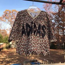 US Size L Adidas JS Jeremy Scott Jagged Leopard TSHIRT JERSEY CASUAL TOP Z33089