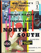 1972 12/25 North vs South All Star Football Game Program Miami Florida