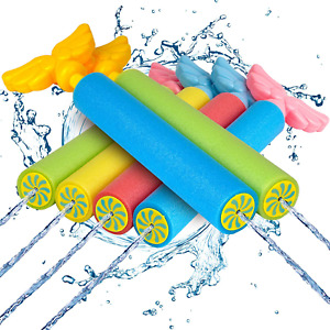 6 Pack Foam Water Blaster Set Swimming Pool Squirt Gun Toy Kids Shooter Outdoors