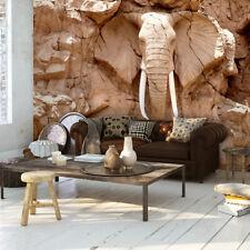 Vließ Fototapete Tapete Wandbild Felsen Elefant  310114/_VENMVT