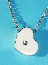 Tiffany & Co Paloma Picasso Modern Heart 0.03 Carat Ct Diamond Pendant Necklace