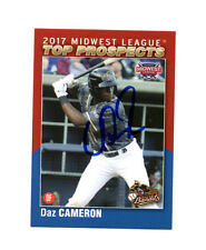 Daz Cameron 2017 Midwest League Top Prospect auto signed card Quad Cities