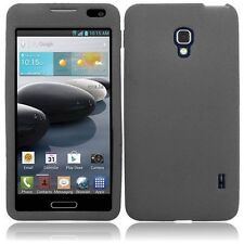 For LG Optimus F6 D500 MS500 Silicone Skin Cover Case - Smoke