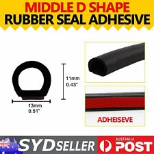 32ft Vehicle Rubber Seal D Shape 13mm Adhesive Hollow Weather Strip Trim Durable