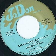 "JOHNNY ANGEL - Green Grows the Valley (RARE 7"" single VINYL)"