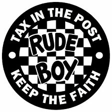 SKA / MODS - RUDE BOY - FUN CAR STICKERS - REPLACE OLD TAX DISC / NEW / GIFT