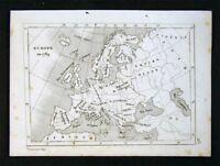 c. 1835 Levasseur Map - Europe in 1789 - Austria Ottoman Greece Spain France