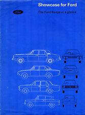 Ford 1967-68 UK Market Foldout Brochure Anglia Cortina Corsair Zephyr Zodiac
