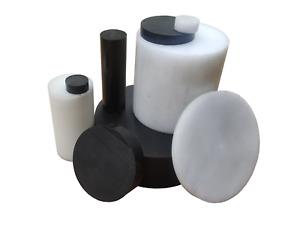 Kunststoff POM-C Rundmaterial Rundstange Ronden Ronde Scheiben ⌀ 30-100mm L= 10-95mm schwarz ⌀80mm L=80mm