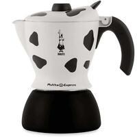 Bialetti Mukka Maculata Stovetop Coffee Maker - Aluminium - Cow Print - 2 Cups
