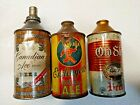 Vintage Cone Top Beer Can Lot of 3 Esslinger Little Man Old Shay Canadian Ace