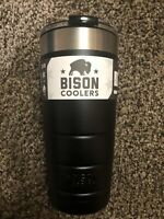 Bison Coolers Black Double Wall Vacuum Insulated HotCold Stainless 22 Oz Tumbler