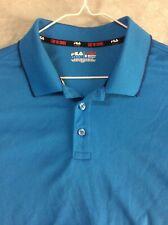 Fila Sport Golf Shirt Fitted Medium Bright Blue