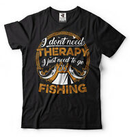 Fishing T-shirt I Don't Need Therapy Perfect Fishing T-shirt Gift For Fisherman