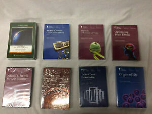 The Great Courses joblot 8x brand new seal courses #S1010