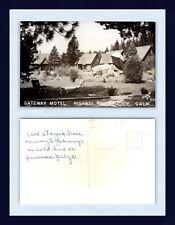 CALIFORNIA TRUCKEE GATEWAY MOTEL US 40 OREM REAL PHOTO KODAK BACK CIRCA 1950