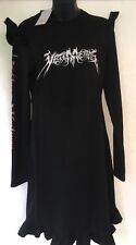 VETEMENTS dress Total Fu**ing Darkness Black SATANIC GOTHIC METAL GOTH DEATH
