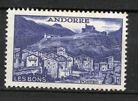 Andorra ( French Post ) : 1955 75 Francs ( Landscapes ) New ( MH )