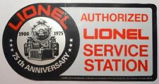 ORIGINAL 1975 LIONEL AUTHORIZED SERVICE STATION 75th ANNIVERSARY WINDOW DECAL