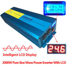 LUYUANIPOWER Pure Sine Wave Power Inverter 2000W/4000W DC 24V to AC 240V Trip
