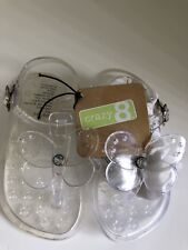 Crazy 8 Clear Jelly ~Baby / Toddler ~Sandal / Water Shoe Size ~ Small or Med
