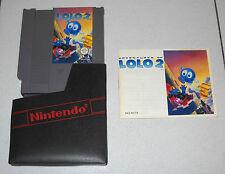 Nintendo NES 8 bit ADVENTURES OF LOLO 2 - Pal A OTTIMO ITA