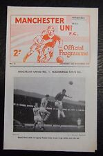 MANCHESTER UNITED RESERVES V  DERBY COUNTY RESERVES  1961/62  OFFICIAL PROGRAMME