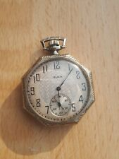 14ct gold cased elgin pocket watch