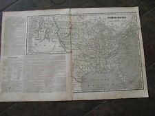 1848 ORIGINAL Pre Civil War Map of the United States and Territories