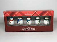 HALLMARK Keepsake 2013 LET IT SNOWMEN 5 Snowman CHRISTMAS ORNAMENTS SET Snowman