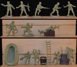 1983 Original Matchbox P-6006 WWII British Commandos - 6 54mm figures in 6 poses
