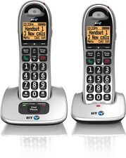 BT 4000 TWIN BIG BUTTON DIGITAL CORDLESS HOME PHONE - Large Buttons - Handsfree