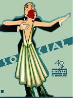 4203.Cuba.Social.man and woman dancing.sept.1928.POSTER. decor Home Office art