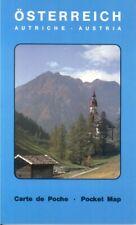 Austria Pocket Map Alps mountain railways funiculars Vienna Danube Salzburg Wien
