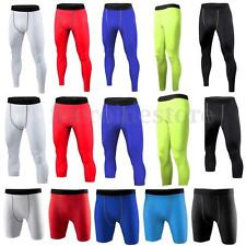 Men Under Compression Pants Shorts 3/4 Pant Running Tights Base Layers Trousers